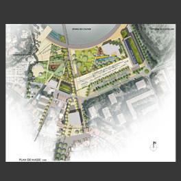 Mes r alisations projets d architecture et de paysage for Plan masse architecture